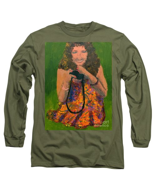 Long Sleeve T-Shirt featuring the painting Allison by Donald J Ryker III