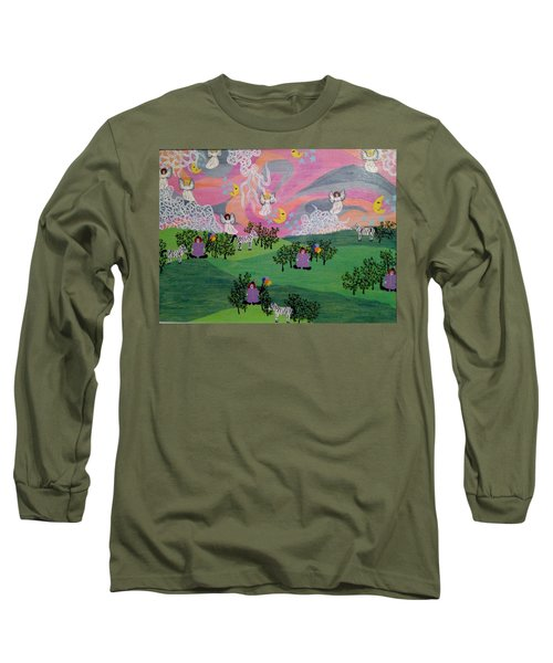 Long Sleeve T-Shirt featuring the painting Almost Heaven by Erika Chamberlin