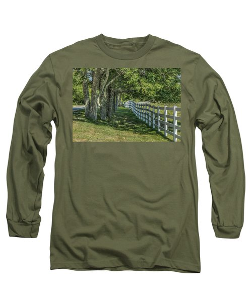 Long Sleeve T-Shirt featuring the photograph Along A Country Road by Jane Luxton