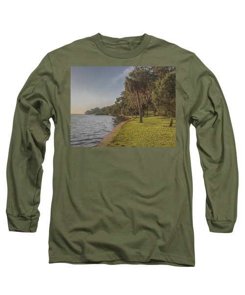 Long Sleeve T-Shirt featuring the photograph Along The Wall by Jane Luxton