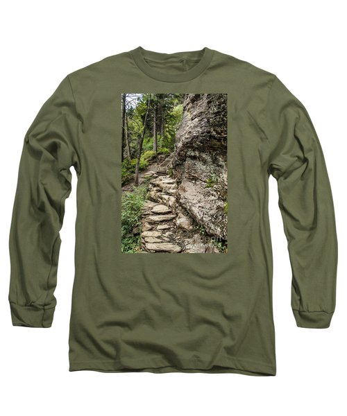 Alum Cave Trail Long Sleeve T-Shirt by Debbie Green