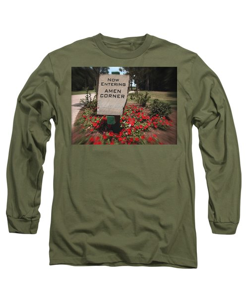 Long Sleeve T-Shirt featuring the photograph Amen Corner - A Golfers Dream by Ella Kaye Dickey