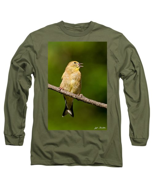 American Goldfinch Singing Long Sleeve T-Shirt