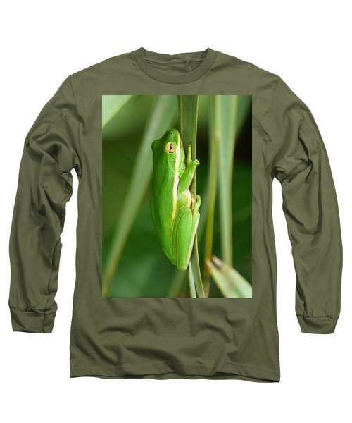 American Green Tree Frog Long Sleeve T-Shirt