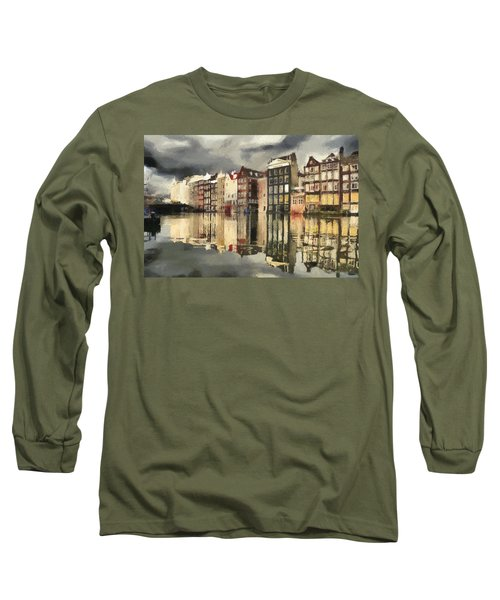 Amsterdam Cloudy Grey Day Long Sleeve T-Shirt