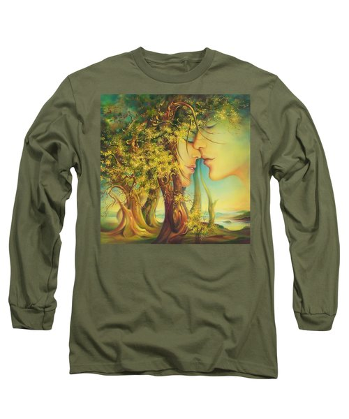 An Encounter At The Edge Of The Forest Long Sleeve T-Shirt