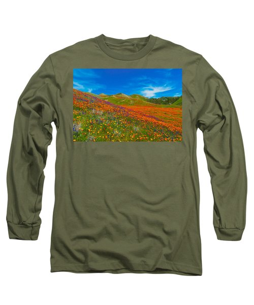 An Ocean Of Orange  Long Sleeve T-Shirt