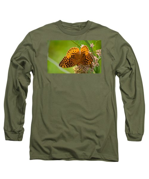 Long Sleeve T-Shirt featuring the photograph Great Spangled Fritillary by Rima Biswas