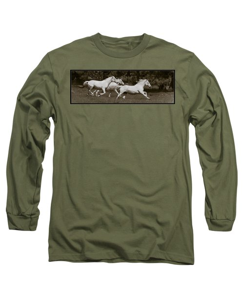 And The Race Is On Long Sleeve T-Shirt by Wes and Dotty Weber