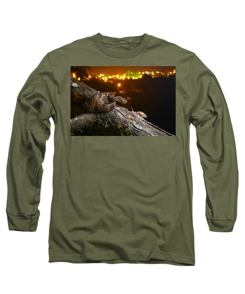 Andean Snail-eater Female And Land Long Sleeve T-Shirt