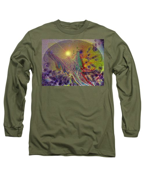 Long Sleeve T-Shirt featuring the digital art Angel Taking Flight by Alison Caltrider