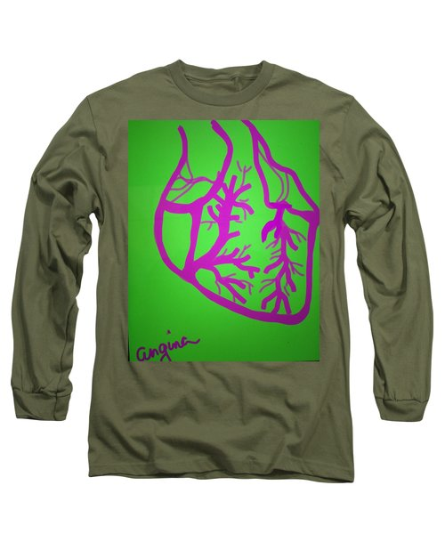 Long Sleeve T-Shirt featuring the digital art Angina by Erika Chamberlin