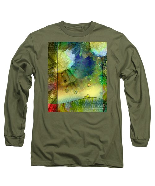 Long Sleeve T-Shirt featuring the painting Angiospermae by Allison Ashton
