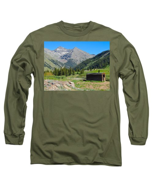Animas Forks Jail Long Sleeve T-Shirt by Dan Miller
