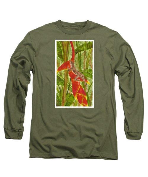 Anolis Humilis Long Sleeve T-Shirt by Cindy Hitchcock