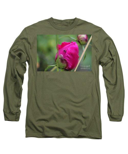 Ant On Peony Long Sleeve T-Shirt