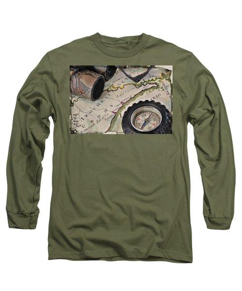 Antique Italian Map Upstate New York Long Sleeve T-Shirt