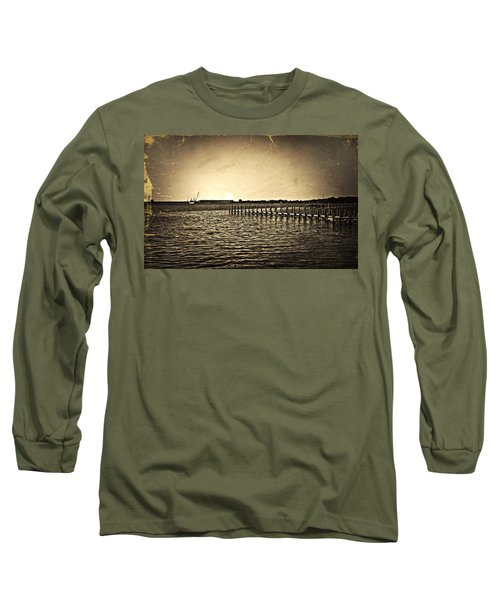 Antique Photo Of Pier  Long Sleeve T-Shirt