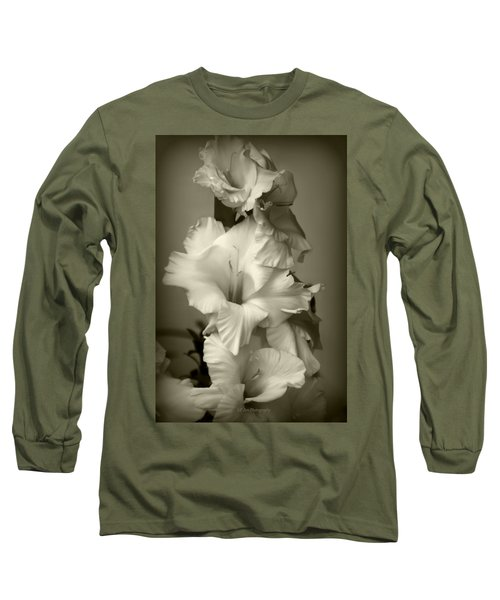 Antiqued Gladiolus Long Sleeve T-Shirt