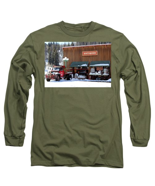 Antiques In The Mountains Long Sleeve T-Shirt by Fiona Kennard