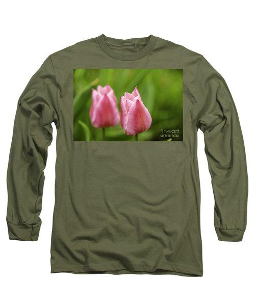 Apple Pink Tulips Long Sleeve T-Shirt