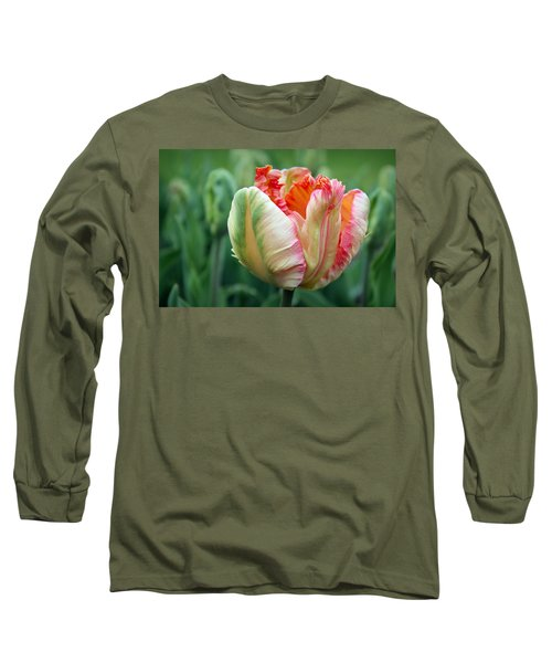 Apricot Parrot Tulip Long Sleeve T-Shirt