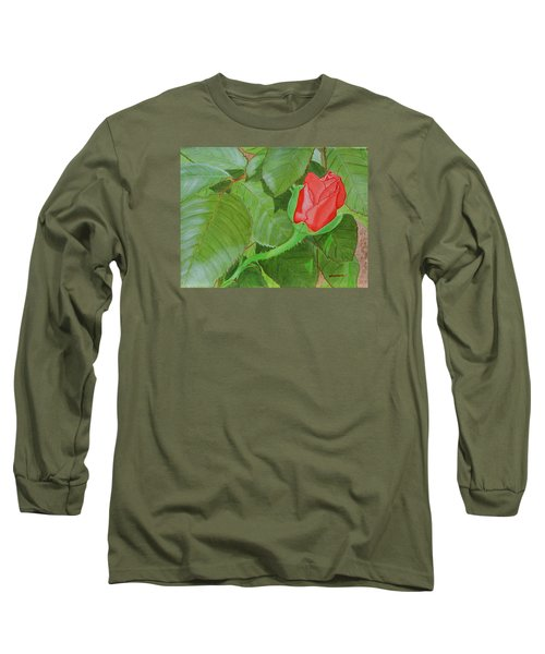 Arboretum Rose Long Sleeve T-Shirt by Donna  Manaraze