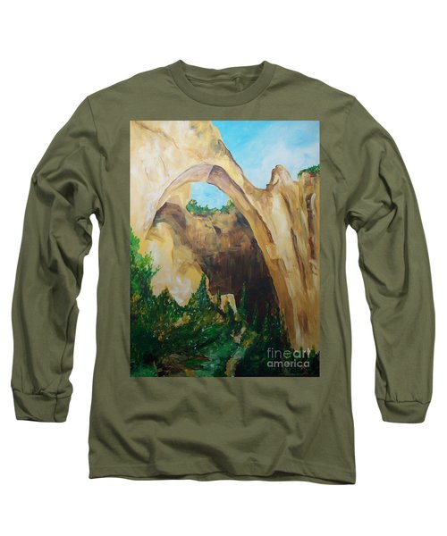Long Sleeve T-Shirt featuring the painting Arch by Eric  Schiabor