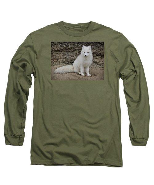 Arctic Fox Long Sleeve T-Shirt by Athena Mckinzie