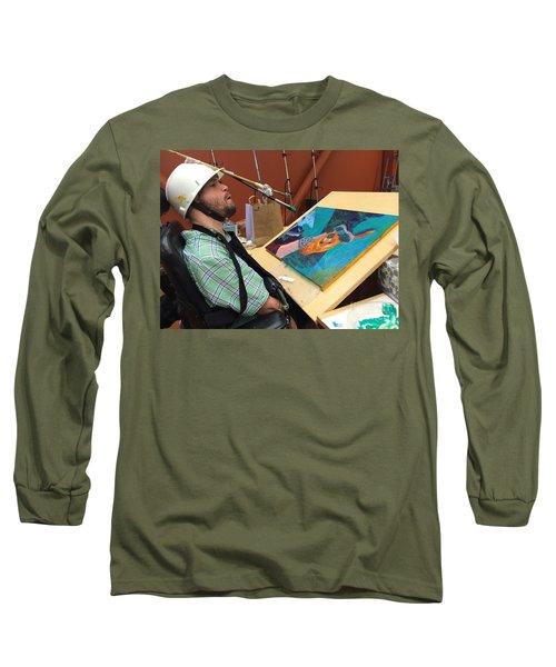 Artist Working Long Sleeve T-Shirt
