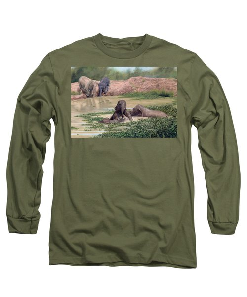 Asian Elephants - In Support Of Boon Lott's Elephant Sanctuary Long Sleeve T-Shirt