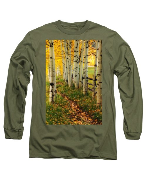 Aspen Path Long Sleeve T-Shirt by Ronda Kimbrow