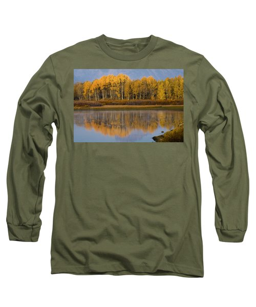 Long Sleeve T-Shirt featuring the photograph Aspen Reflection by Sonya Lang