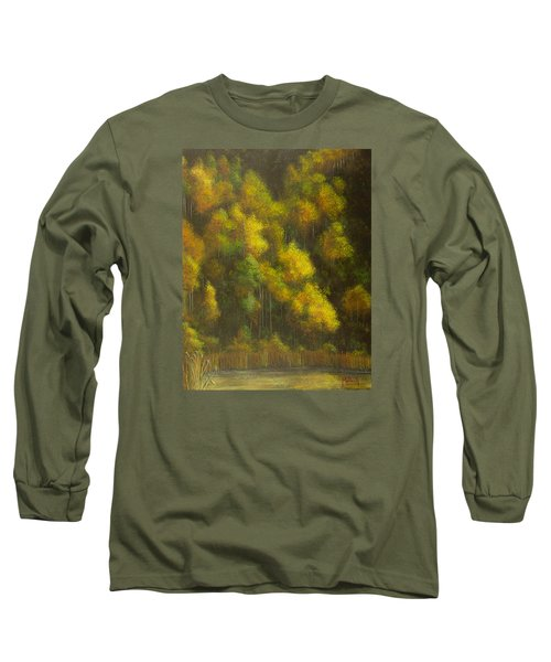 Aspens And Cattails Long Sleeve T-Shirt by Jack Malloch