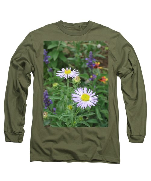 Asters In Close-up Long Sleeve T-Shirt