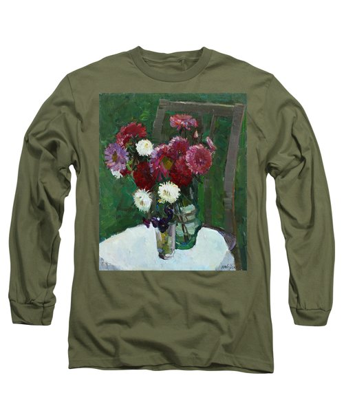 Asters In The First Frosts Long Sleeve T-Shirt