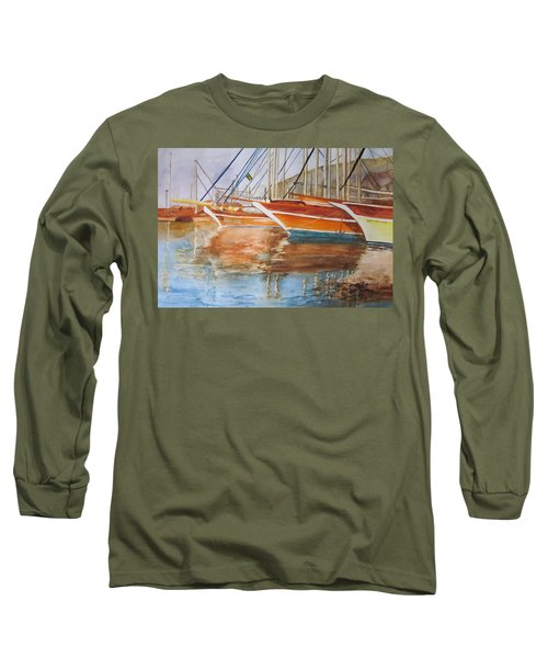 At The Dock Long Sleeve T-Shirt by Maris Sherwood
