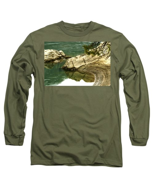 At The Waters Edge Long Sleeve T-Shirt by Loni Collins