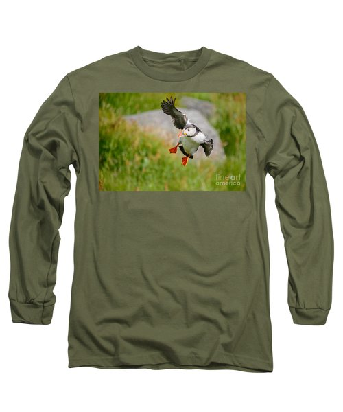 Atlantic Puffin, Incoming.... Long Sleeve T-Shirt
