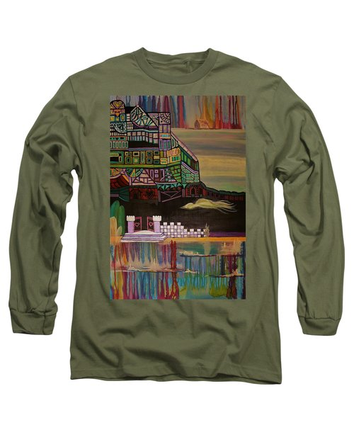 Long Sleeve T-Shirt featuring the painting Atlantis by Barbara St Jean