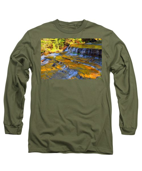 Long Sleeve T-Shirt featuring the photograph Au Train Falls by Terri Gostola