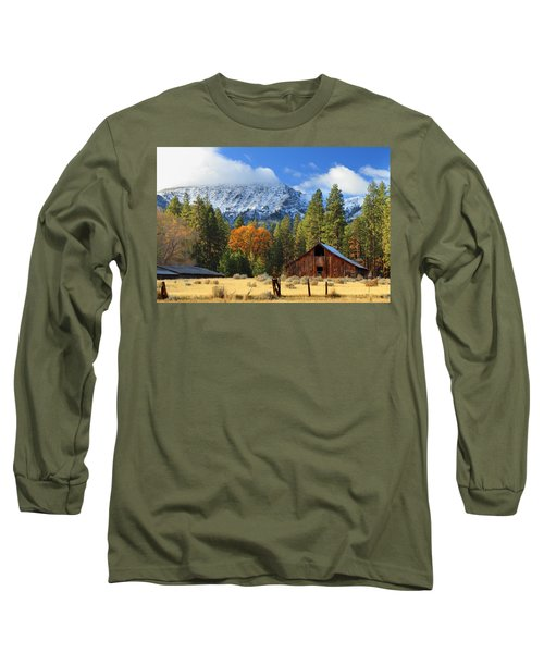 Autumn Barn At Thompson Peak Long Sleeve T-Shirt