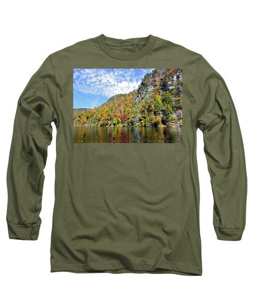 Autumn Colors On A Lake Long Sleeve T-Shirt