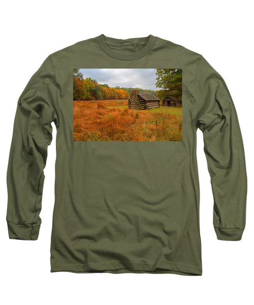 Autumn Foliage In Valley Forge Long Sleeve T-Shirt