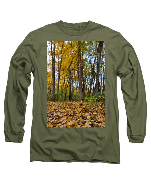 Long Sleeve T-Shirt featuring the photograph Autumn Is Here by Sebastian Musial