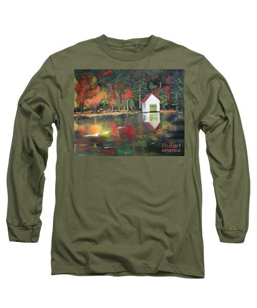 Autumn - Lake - Reflecton Long Sleeve T-Shirt