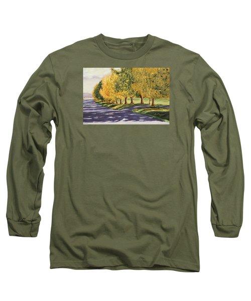Autumn Lane Long Sleeve T-Shirt by Alan Mager