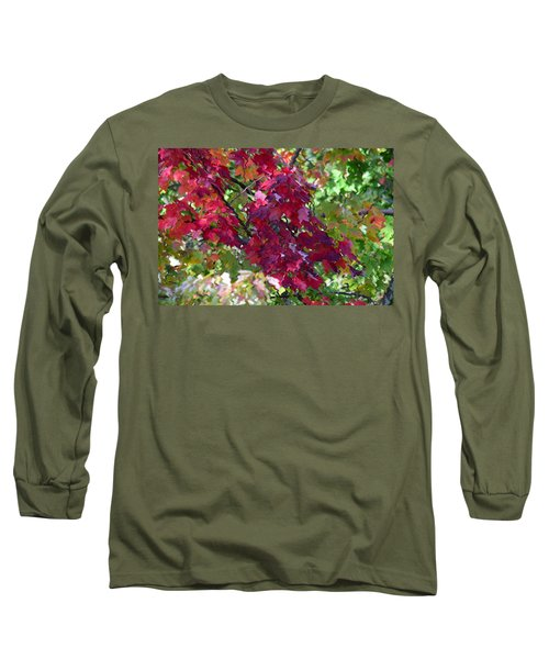 Autumn Leaves Reflections Long Sleeve T-Shirt