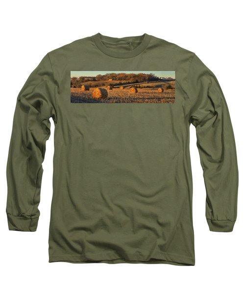 Autumn Morning Bales Long Sleeve T-Shirt