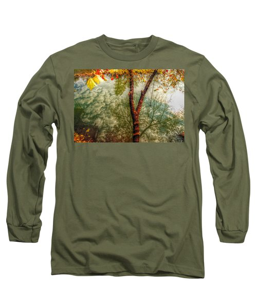 Long Sleeve T-Shirt featuring the photograph Autumn Reflection  by Peggy Franz
